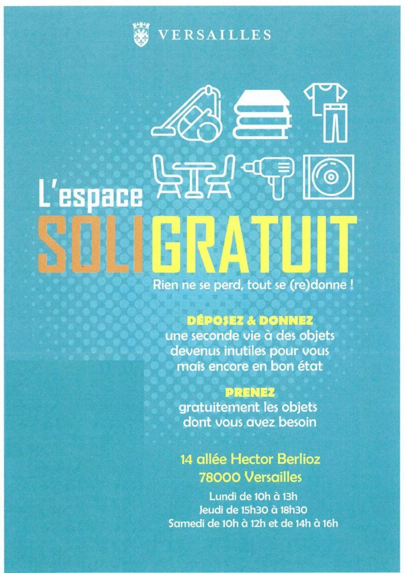 Affiche SOLIGRATUIT Versailles